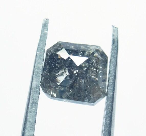 1.70cts 7,18 7,18 1.70cts * 6.71 * 3.02 mm gris sel & poivre Asscher forme Rose Cut Diamond vrac Cabochon, naturel facettes Diamond Rose Cut, PJ122 géométrique 5b0340