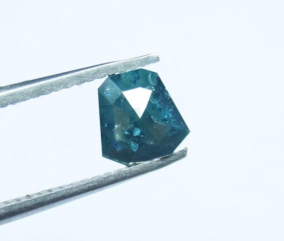 1.41cts 5.66x5.49x4.04mm Red Asscher Shape Rose Cut Diamond Loose Cabochon Natural Faceted Diamond Rose Cut Geometric PJ20