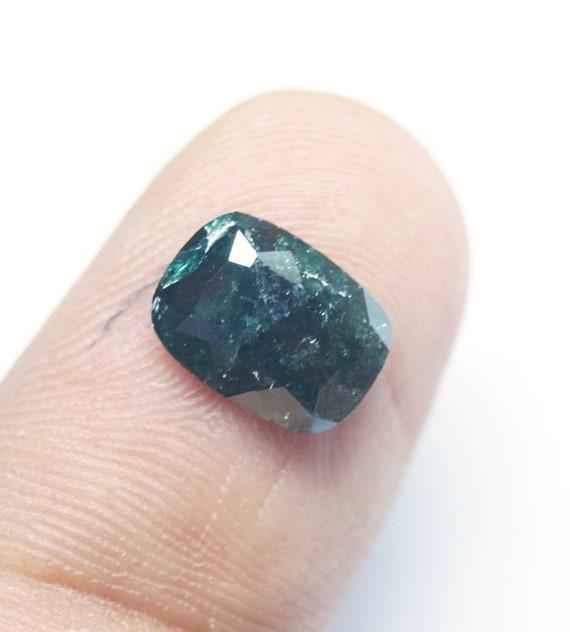 1.50CTs ovale 9.22x6.70x2.40mm diamant fantaisie bleu ovale 1.50CTs forme Rose à facettes Diamond Cut, facettes diamant bleu naturel lâche, Rose bleue, PJ163 ba0358