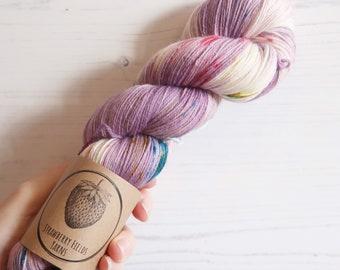 Hand Dyed Sock Yarn // Gingham Altar //100g Strawberry Fields Yarns