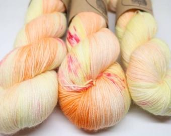 Handdyed Sock Yarn // Neckinger // 100g Strawberry Fields Yarns