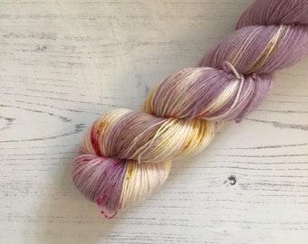 Hand Dyed Sock Yarn // Bridesmaid // 100g Strawberry Fields Yarns