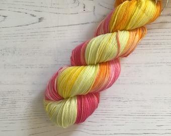 Hand Dyed Sock Yarn // Cocktail // 100g Strawberry Fields Yarns