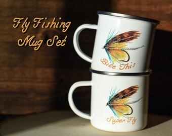 LaEtsy À Mug Pêche Camp De Style Cadeau Tasse Mouche CQdtsrh