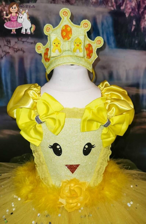 yellow Tutu Dress Event Tutu Dress Gifts Party Tutu Birthday Tutu Dress Fancy Tutu for Girls Happy Easter Easter chick Tutu Dress