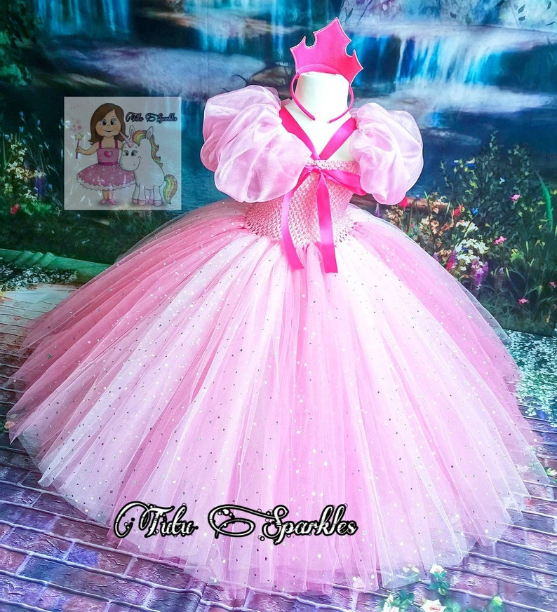 Girls Birthday dress Sleeping beauty inspired pink tutu world book day unique gift pageant dress Princess party toddlers dress