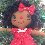 Christmas Ornament - African American Holiday Decor - Raggedy Ann Doll - Christmas Gift - Stocking Stuffer - Secret Santa