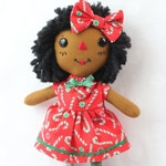 Christmas Ornament - African American Holiday Decor - Raggedy Ann Doll - Christmas Gift - Secret Santa Gift - Christmas Decorations