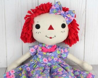 Handmade Raggedy Ann Doll - Soft Baby Doll - Cinnamon Annie Doll - Rag doll - Birthday Gift for Girls - Girls Room