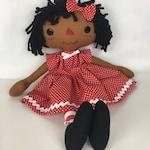 Black Rag Doll - Raggedy Ann Doll - Black Baby Doll - Cinnamon Annie Doll - Girls Birthday Gift