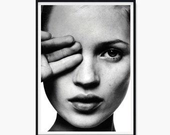 Art Print POSTER Canvas Kate Moss #13