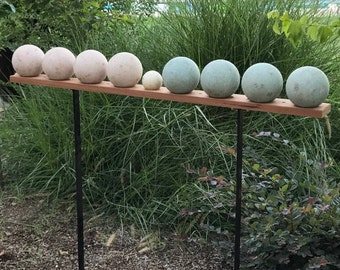 Elevated Bocce Ball Rack