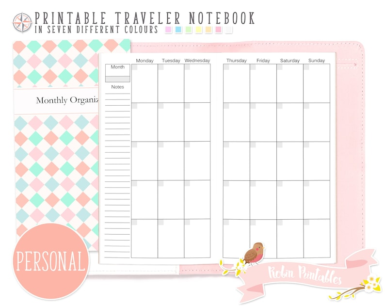 photograph relating to Monthly Organizer referred to as Unique Regular Organizer Traveler Laptop computer Refill Printable TN PDF Obtain for Person Seek the services of Thirty day period Planner, Program, Every month Program Inserts
