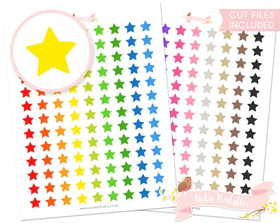 star printable planner stickers erin condren cute colorful