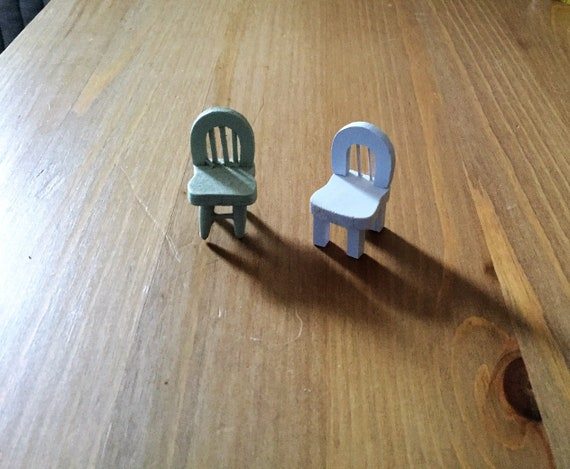 Christmas Gift Ideas Dollhouse Chairs Two Miniature Chairs Etsy