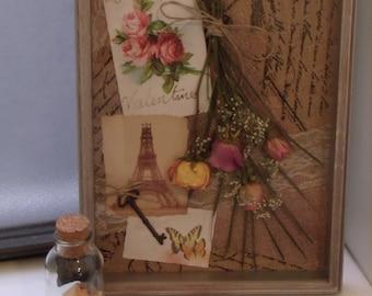 Armella-Dried Floral Shadowbox