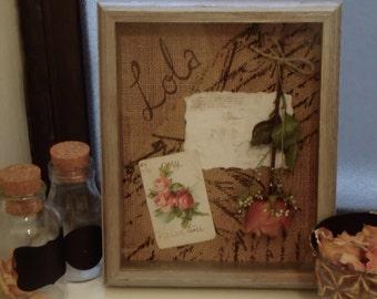 Custom Dried Floral Shadowbox