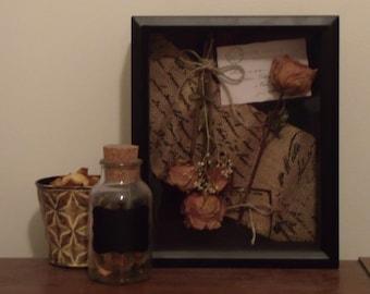 Cora - Dried Floral Shadowbox