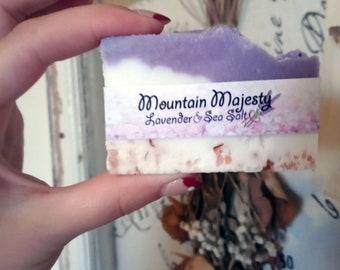Mountain Majesty - Lavender and Sea Salt Exfoliating Soap