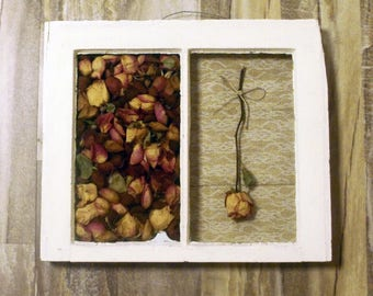 Amelie-Paned Floral Shadowbox