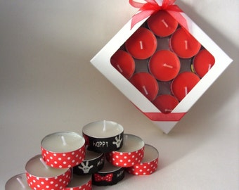 Customised Disney/Mickey & Minnie Mouse Themed Scented or Unscented Tea Light Candles (Pack of 9) UK seller