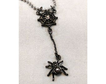 Spider Web Necklace With Ball Chain