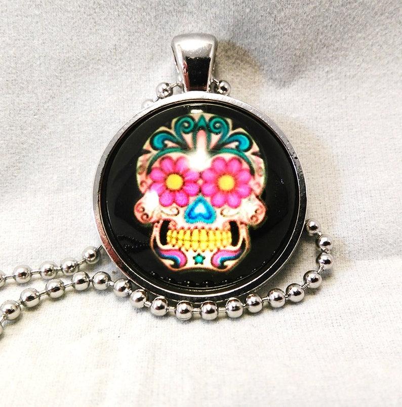Sugar Skull Pendant Necklace image 0
