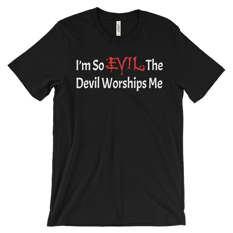 Devil Shirt  Satanic Shirts  Occult Shirts  Gothic Clothing image 0