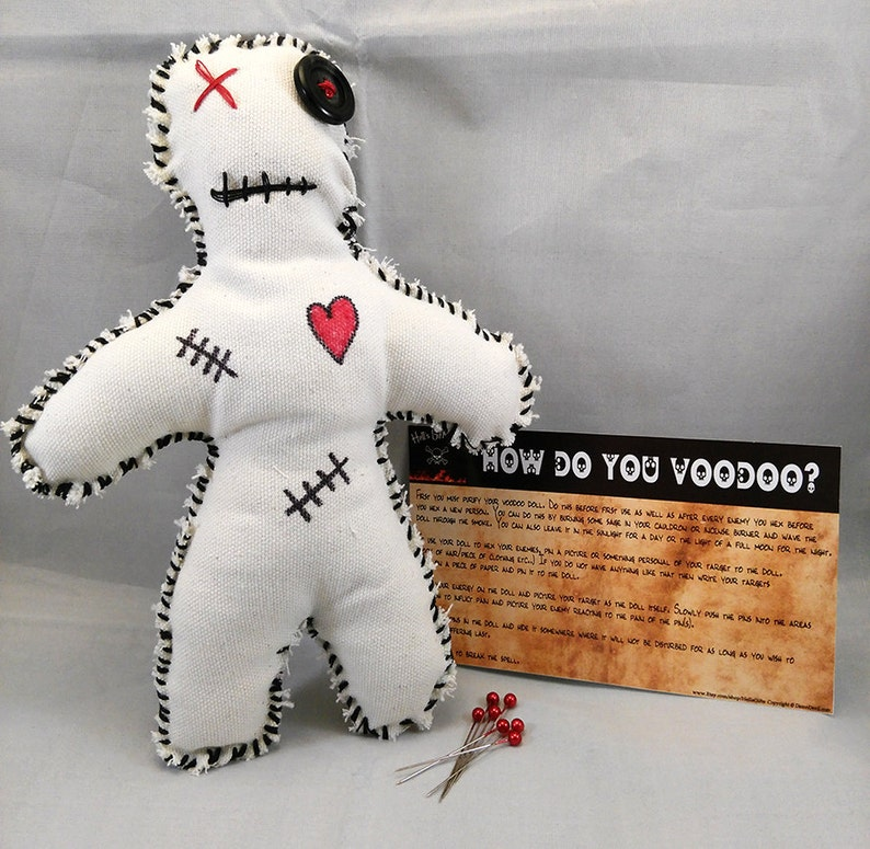 Voodoo Doll Creepy Scary Gothic Doll Occult Spells image 0