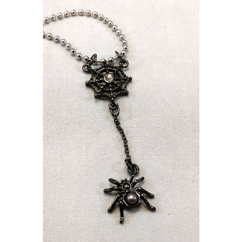 Spider Web Necklace With Ball Chain image 0