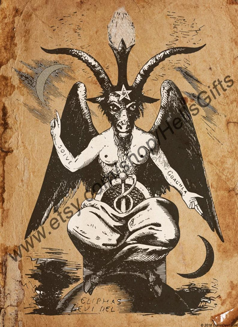 Baphomet Digital Print Occult Art  Occult Print image 0