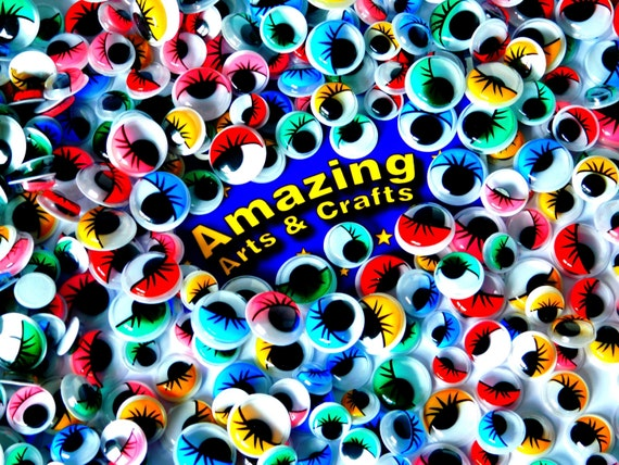 Self Adhesive Wiggle Wiggly Googly Sticky Eyes Assorted Types 10mm 12mm 15mm