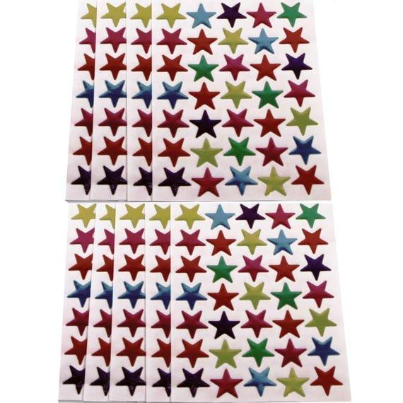 2100 mixte étoiles or Couleur Argent auto-adhésif Récompense du Mérite Bureau autocollants