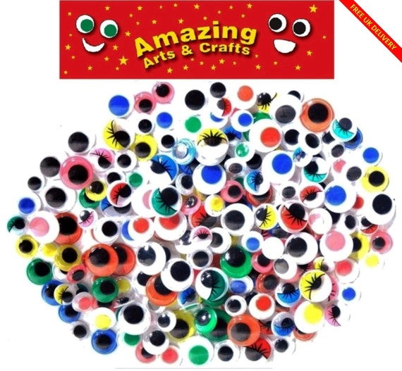 15 MM 16 PIECES SEW ON WIGGLE GOOGLE GOOGLY EYES FOR CRAFTS