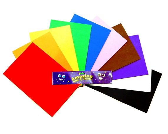 Glitter Eva Craft Foam Self Adhesive A4 Sheets in 10 Assorted Colours
