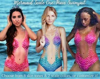 288397e96baea Mermaid Scales Swimsuit - Realistic bodysuit