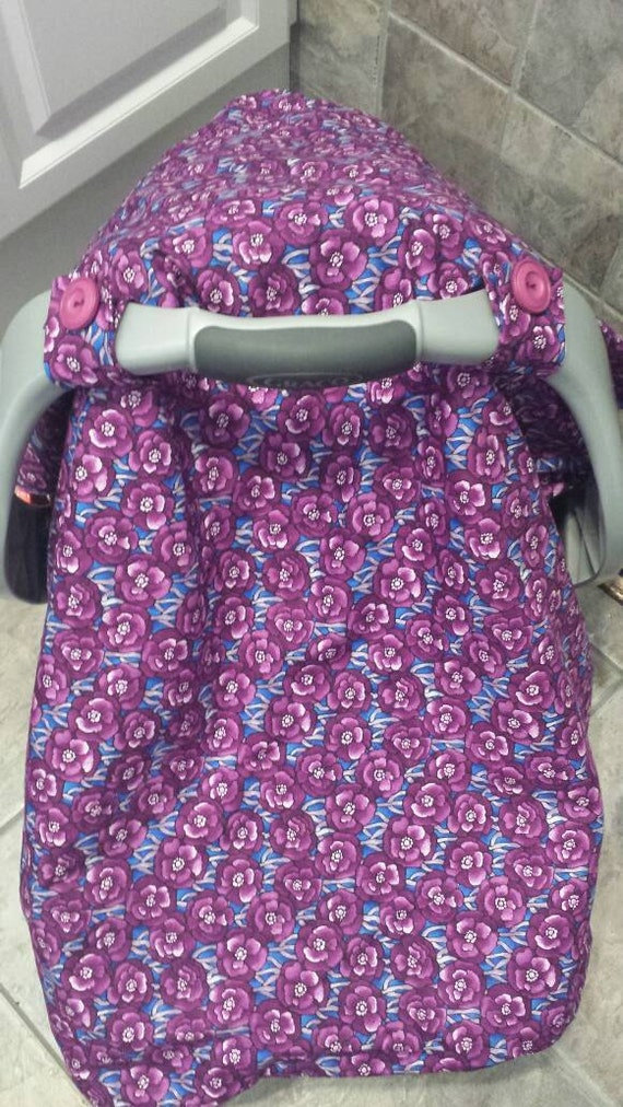 Universal Purple Soft Car Seat Canopy Cover Girl Car Seat Etsy