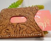 Handmade Tooled Leather Card Holder