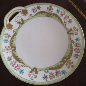 1904+ Collectible Ornate Plate by Morimura Bros. Replacement China ca Gifts for Her Antique Hand Painted PLATE Nippon