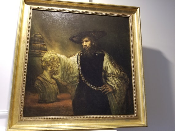 Art on Canvas as Wall Decor /& Gift 8 Handmade Oil Paintings Rembrandt van Rijn Aristotle with a Bust of Homer baroque portrait