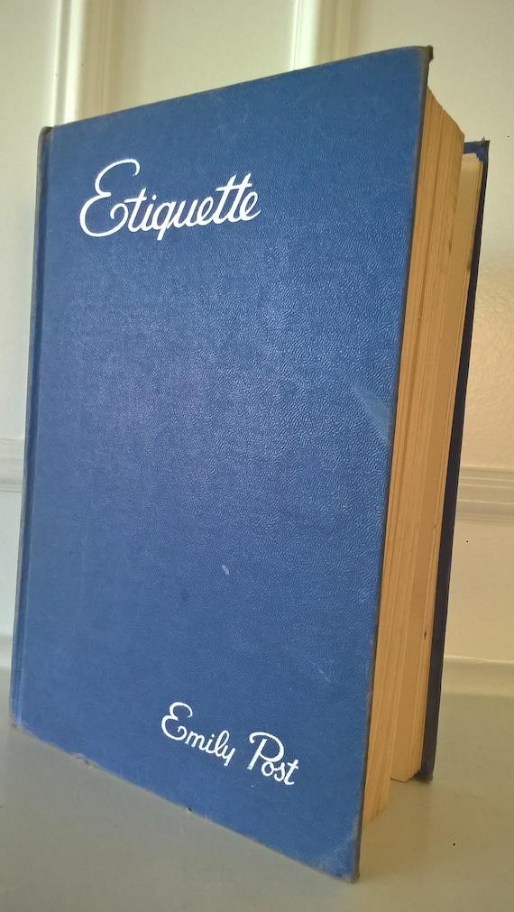 Emily Post Wedding Etiquette.Etiquette Book By Emily Post 1945 Wedding Etiquette Illustrated Very Rare Book