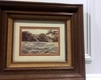 """Limted Edition 137/300 - """"Hill Country Hideaway"""" - Signed B. Herd - Framed Lithography"""