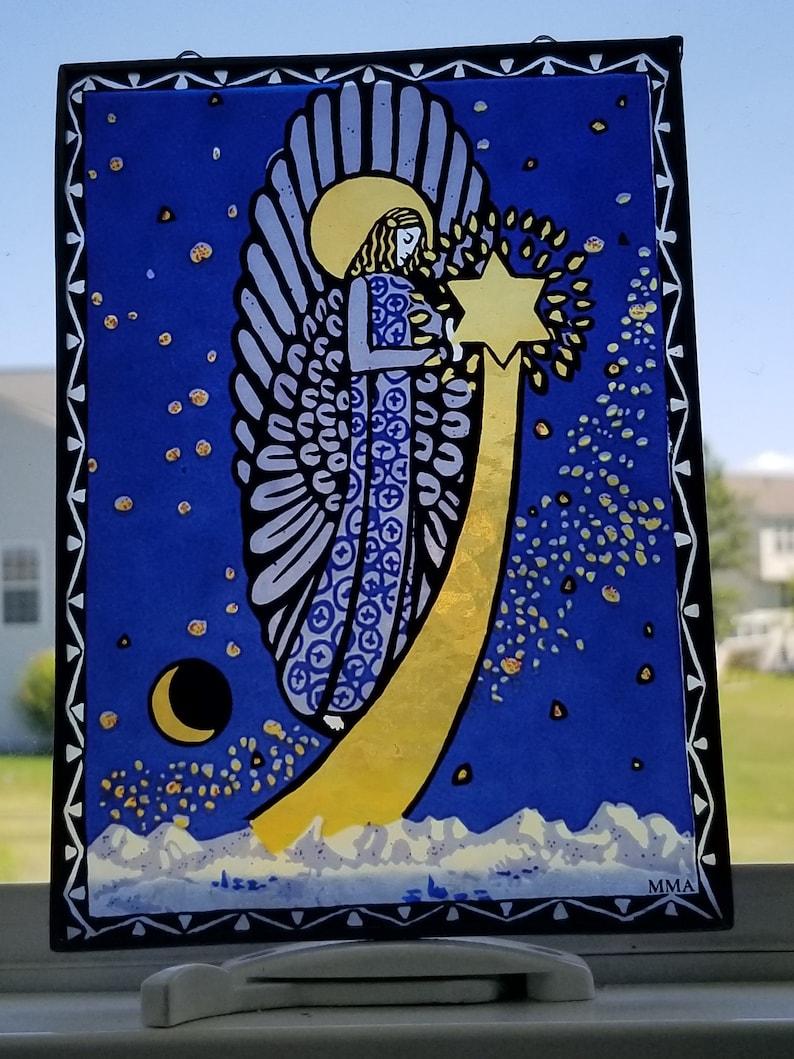 Stained Glass Suncatcher Angel Suncatcher MMA Stained Glass
