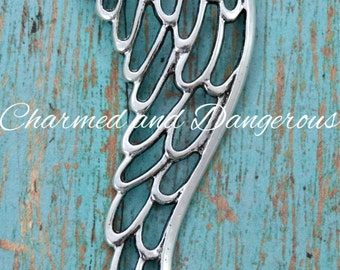 Pewter Angel Wing Pendant (P2)