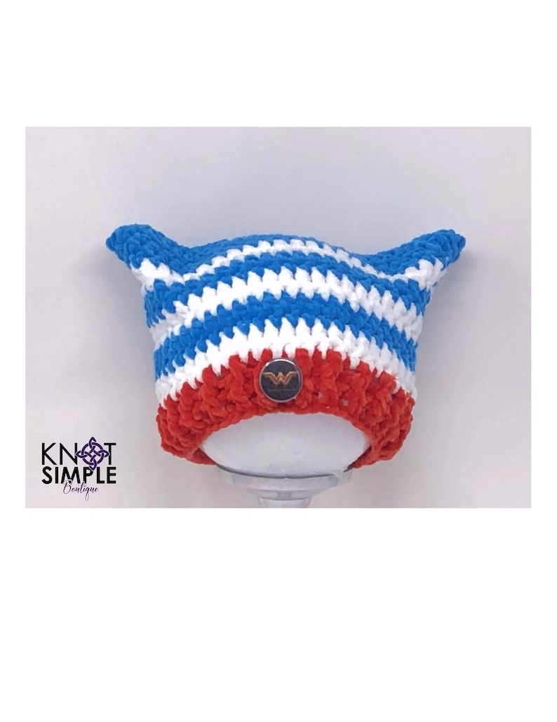 Wonder Woman Inspired Pussy Hat image 0