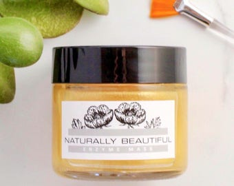 Brightening Fruit Enzyme Mask - Face Mask - Natural Skincare - Papaya Exfoliating Face Mask - Lactic Acid - Skin Care - Lightening