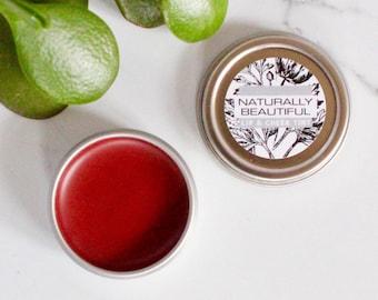 Natural Lip Tint - Organic - Lip Balm -Lip Tint - Natural Skin Care - Lip and Cheek Tint - Gift - Lip Balm - Bridesmaid - Skin Care