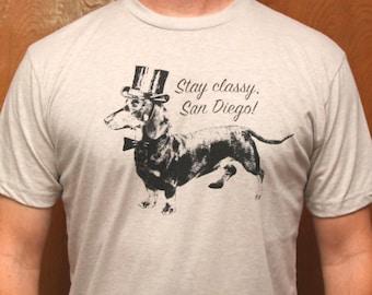 STAY CLASSY SAN DiEGO Light Grey Unisex T Shirt