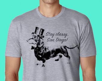 STAY CLASSY SAN DiEGO Athletic Grey Unisex T Shirt