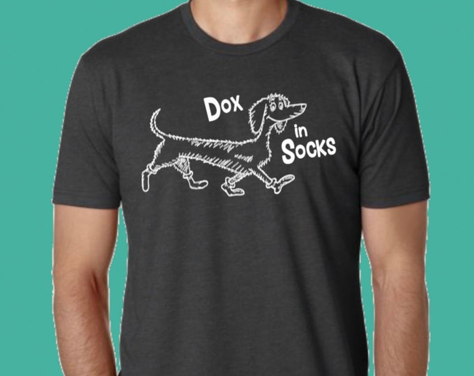 Featured listing image: DOX iN SOCKS Charcoal Grey Unisex T Shirt